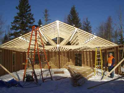 A look back in time building the maine house downeast for Building a house in maine