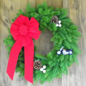 Biker Christmas Wreath