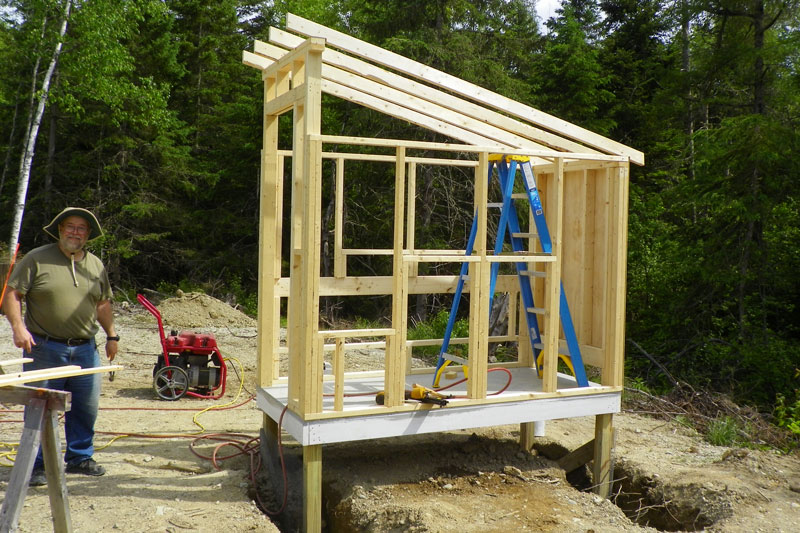 Chicken Coop Construction Is Underway Downeast Thunder Farm