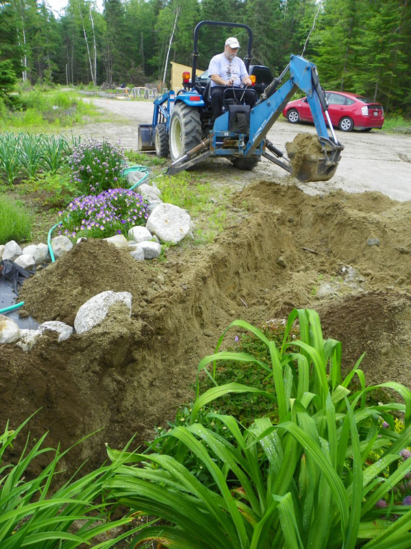 Digging Ditches Downeast Thunder Farm