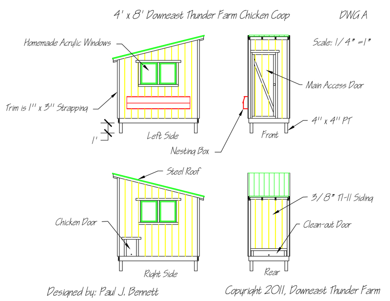 free downeast thunder farm chicken coop plans | downeast thunder farm