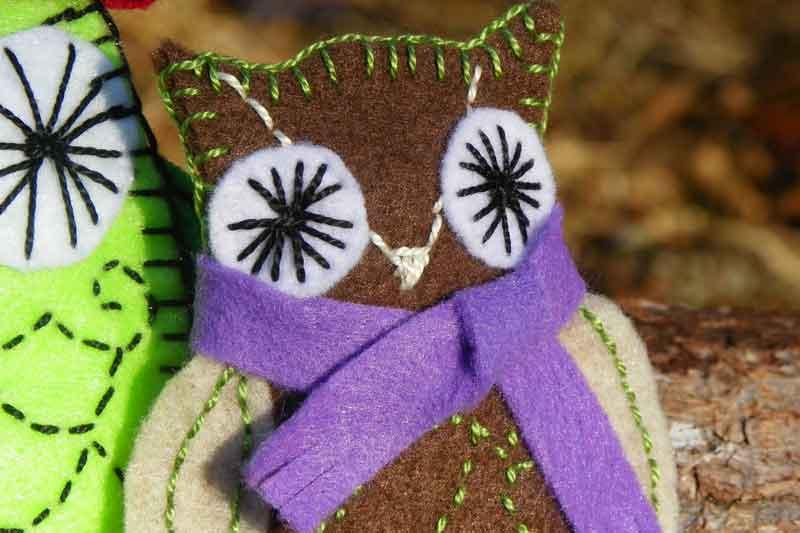 Downeast Thunder Farm Owl Ornaments