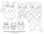 owl felt pattern