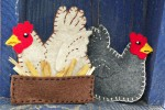 Felt Chicken Ornament Pattern