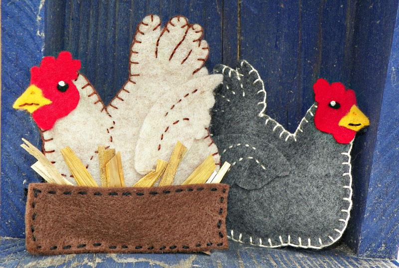 A Buff In The Box Felt Chicken Ornament Pattern