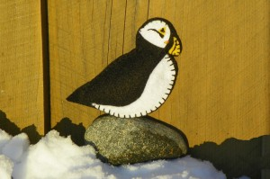 Felt Puffin Ornament