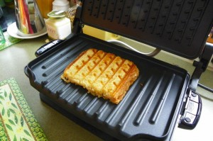 Beautifully toasted grilled cheese on the George Foreman Grill