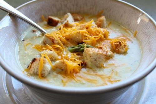Homemade Asparagus Potato Soup