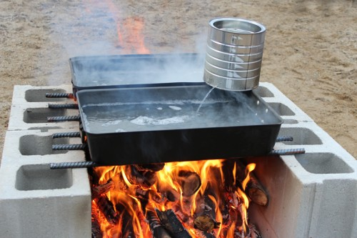 Cooking down the sap