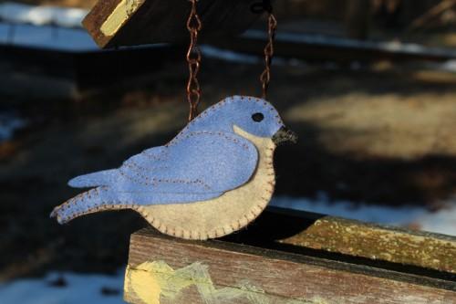Arrival of the Bluebird - Felt Ornament | Downeast Thunder ...