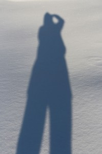 shadow on snow