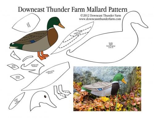 Mallard Duck Felt Pattern