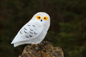 Snowy Owl Felt Ornament