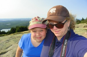 Mom and Roo Self Portait at Blue Hill Overlook