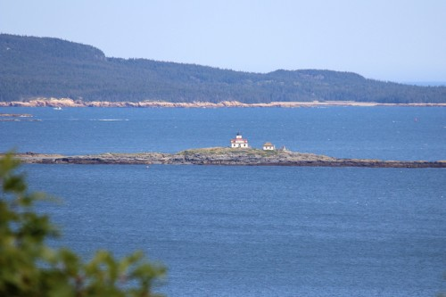 Egg Rock Light from the Loop Drive up Cadillac Mountain