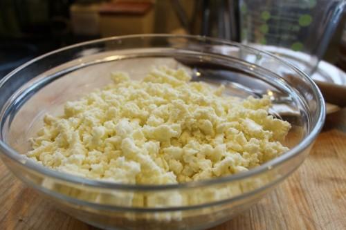 grated homemade mozzarella cheese
