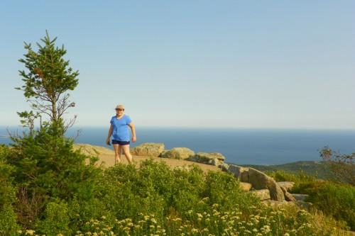 Hannah on top of Cadillac Mountain