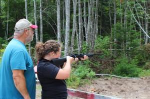 Hannah target shooting