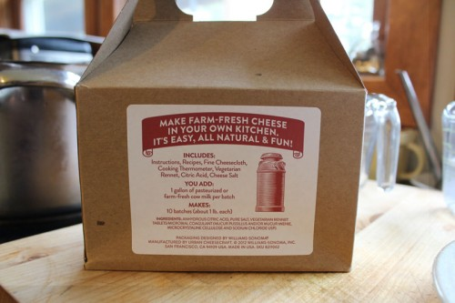 cheese making kit from Williams Sonoma