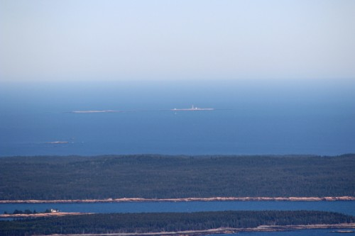 Petit Manan Island and Lighthouse from the top of Cadillac Mountain