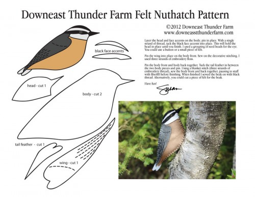 nuthatch felt pattern