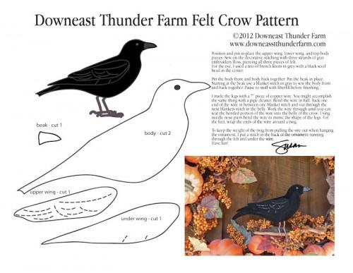 Crow Felt Pattern