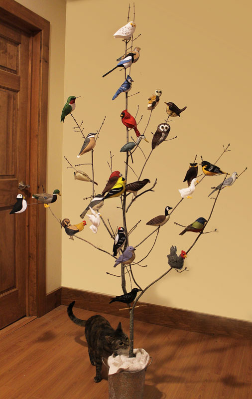 the bird tree a collection of bird felt ornaments downeast thunder farm. Black Bedroom Furniture Sets. Home Design Ideas