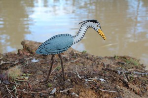 Blue Heron Felt Ornament