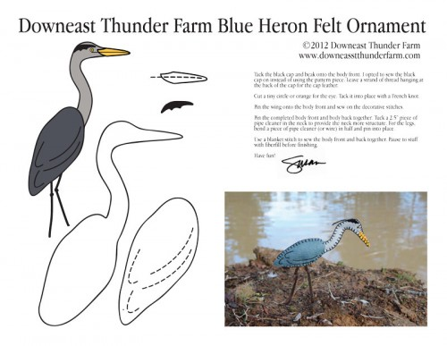 Blue Heron Ornament Pattern
