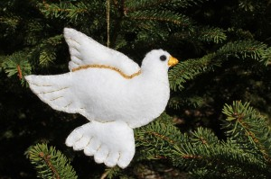 Dove Felt Christmas Ornament