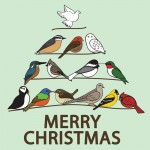 Merry Christmas Bird Tree