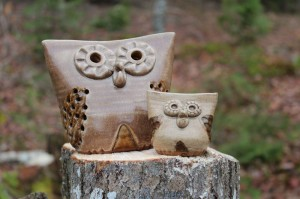 Pottery Owls