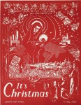 Christmas Woodblock Print