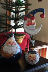 Mom's blue santas