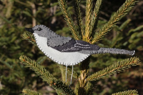 Northern Mockingbird Felt Ornament