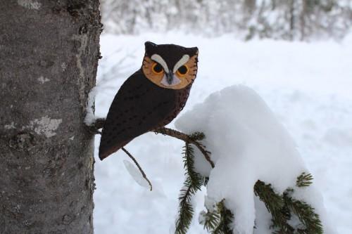 Eastern Screech Owl Felt Ornament