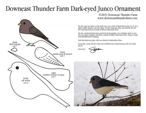 Dark-eyed Junco Pattern