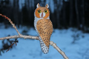 Long-eared Owl Felt Ornament