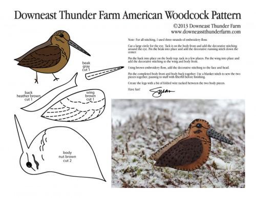 American Woodcock Pattern