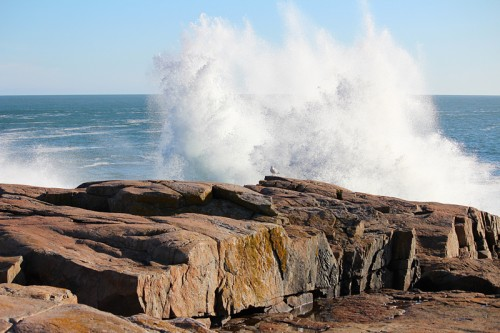 March Waves crashing at Schoodic Point