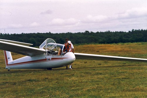 dad with glider on cape cod