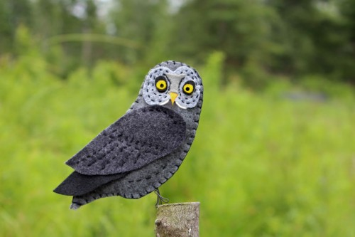 great gray owl felt pattern