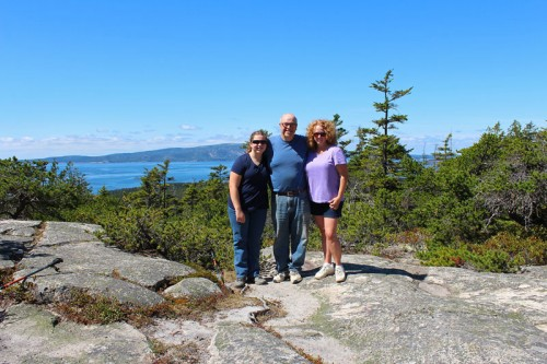 Family at the top of Schoodic Head