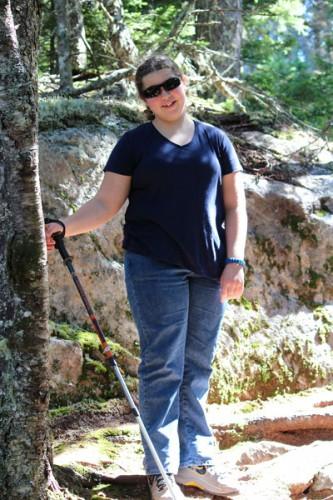 Hannah on the Anvil Trail