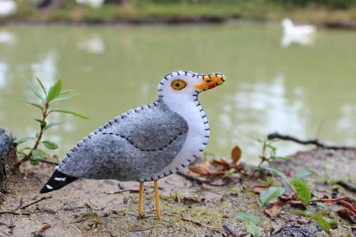 Herring Seagull Felt Ornament