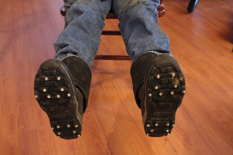 Yankee Ingenuity: Studded Muck Boots | Downeast Thunder Farm