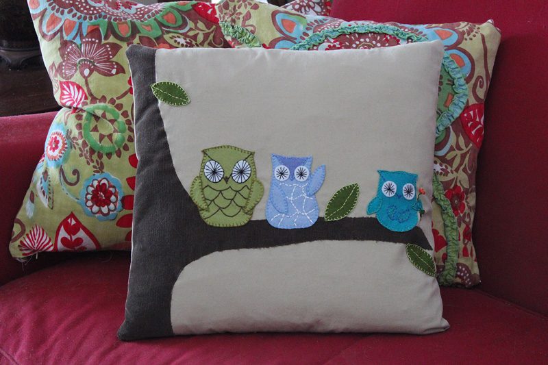 Downeast Thunder Farm Owl Pillow Project