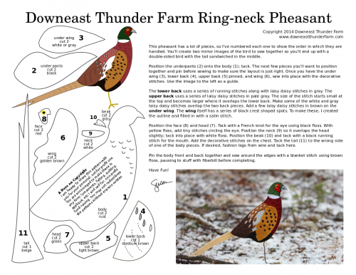 ring-neck pheasant pattern