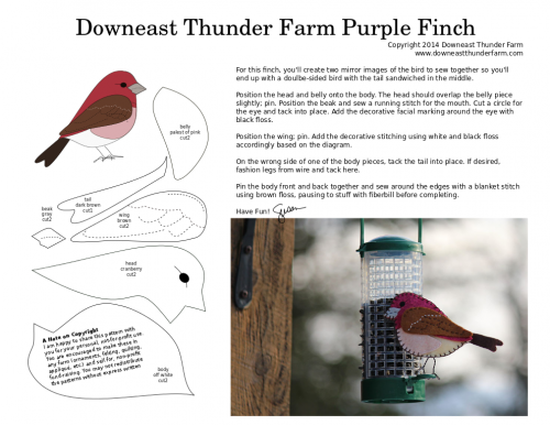purple finch pattern