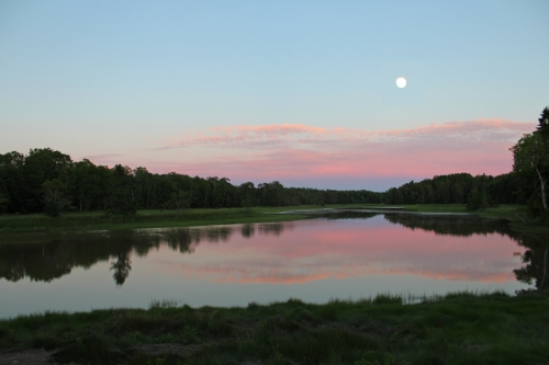 almost super moon over mill river